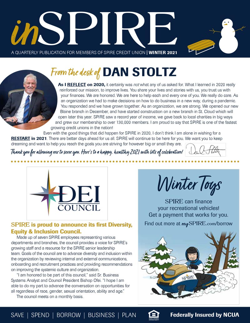 inSPIRE Newsletter: Winter 2021 edition
