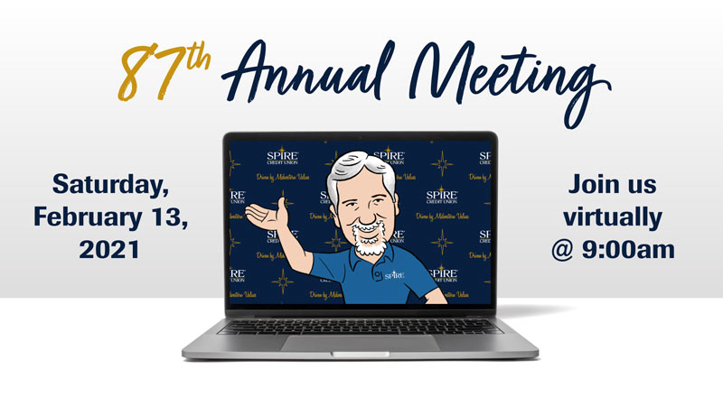 87th Annual Meeting: Saturday, February 13, 2021. Join us Virtually at 9:00am