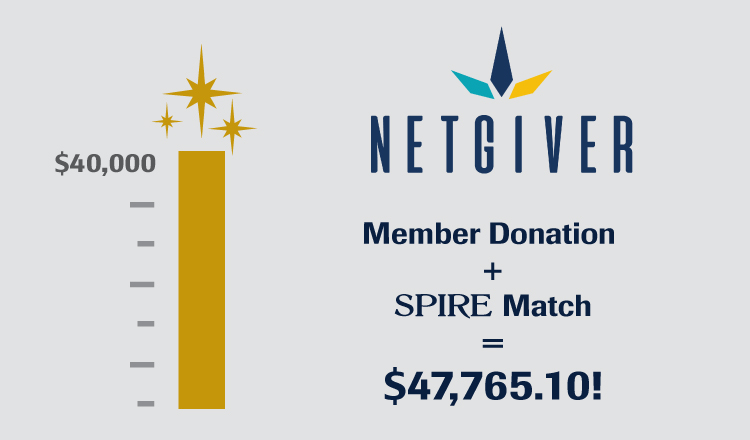 SPIRE & NetGiver Deliver Impact to Charities