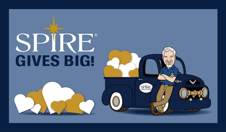 SPIRE Gives Big campaign logo