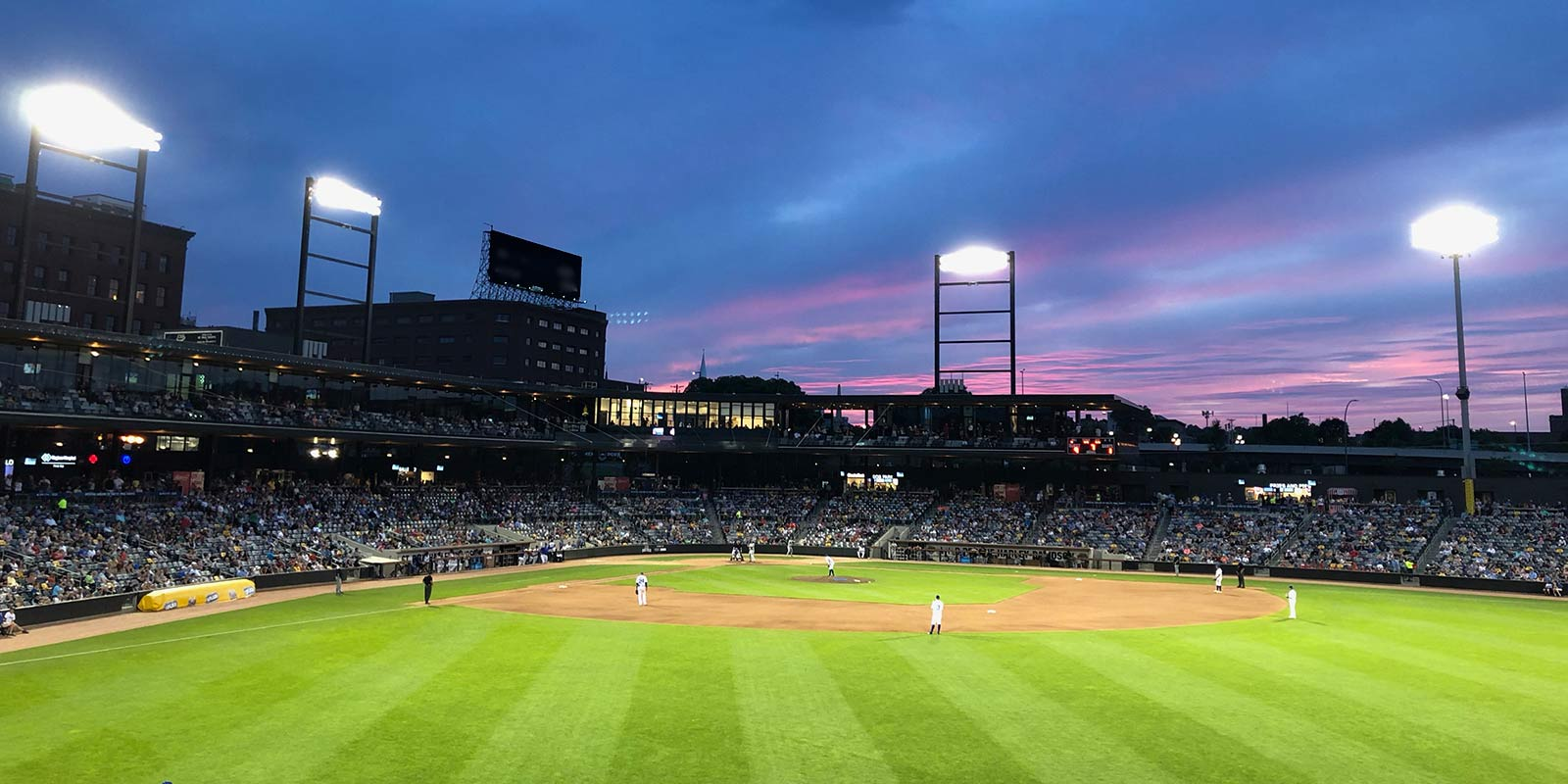 photo of CHS Field at night