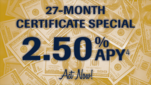 27-Month Certificate Special